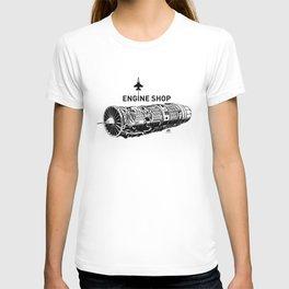 ENGINE SHOP - F16 T-shirt