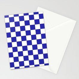 Checkered (Navy & White Pattern) Stationery Cards