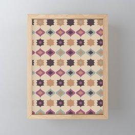 Retro pattern . Pastel . Framed Mini Art Print