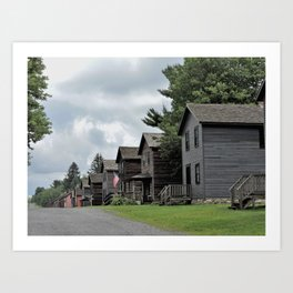 """Eckley Miners' Village - A """"patch town"""" Art Print"""