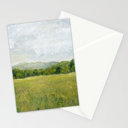 Vermont Landscape Mountain Fields Trees Pastures Oil Painting Stationery Cards