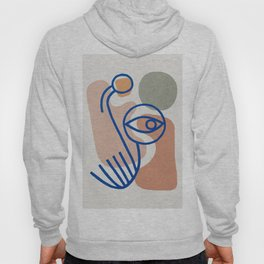 Abstraction Blue line art 1 Hoody