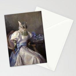 Lady-cat Stationery Cards