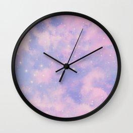 Pastel Cloulds Sky Seamless Nebula 264 Wall Clock