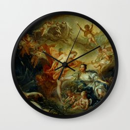 "François Boucher ""Apollo Revealing his Divinity before the Shepherdess"" Wall Clock"