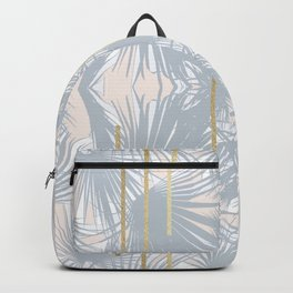 Tropical Art Deco Pattern - Grey, Nude and Gold Backpack