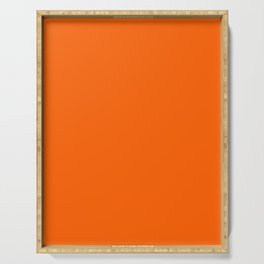 Solid Orange Serving Tray
