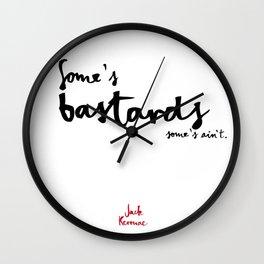 Bastards-white Wall Clock