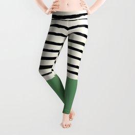 Moss Green x Stripes Leggings
