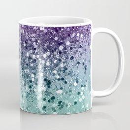 Purple Teal Mermaid Ocean Glitter #1 (Faux Glitter) #shiny #decor #art #society6 Coffee Mug