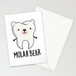 Molar Bear Cute Polar Bear Tooth Pun Stationery Cards