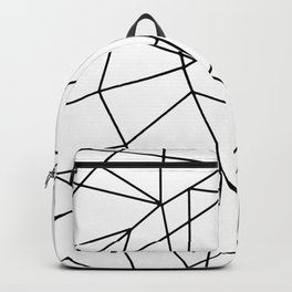 Simple Modern Black and White Geometric Pattern Backpack