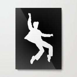 White Elvis Metal Print