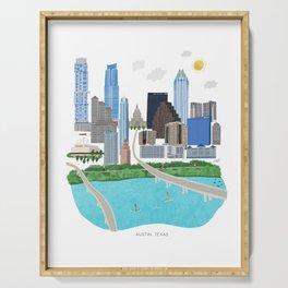 Austin Skyline Illustration Serving Tray