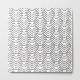 Sync in Grey Metal Print