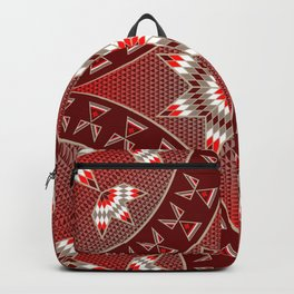 Native American Star Pattern Red Backpack