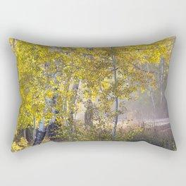 Through the Aspen Forest Rectangular Pillow