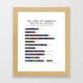 Umphrey's McGee All Good 2009 Poster - Horizontal, no annotations Framed Art Print