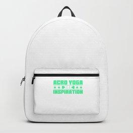Lovely and Relaxing Acro Yoga Tshirt Design Acro Yoga Inspiration Backpack