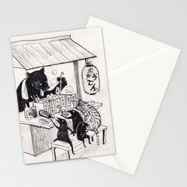 The black panther oden Stationery Cards