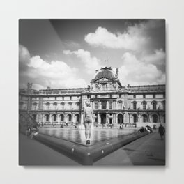 Magic Moment at the Louvre in Black and White - Holga photograph Metal Print