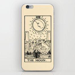 XVIII. The Moon Tarot Card on Parchment iPhone Skin