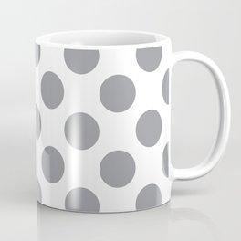 Grey Large Polka Dots Pattern Coffee Mug