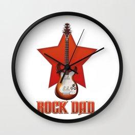 Rock Dad Wall Clock