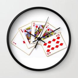 Royal Flush Wall Clock