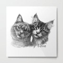 Cats in Love G134 Metal Print