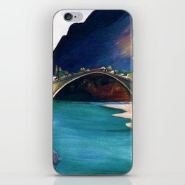 Mostar Old Town Panorama, Stari Most Bridge, Bosnia and Herzegovina by Tivadar Csontváry Kosztka iPhone Skin