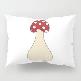 Red Mushroom Pillow Sham
