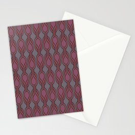 Retro-Delight - Double Drops - Plum Stationery Cards