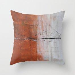 Broken Bridges Throw Pillow