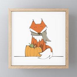 Fall Fox Framed Mini Art Print