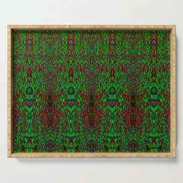 Red and Green Pattern Serving Tray
