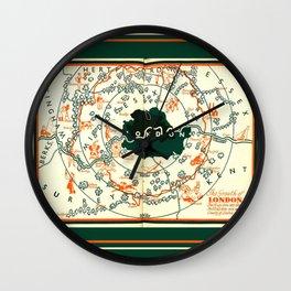 Vintage Illustrated London Map Wall Clock