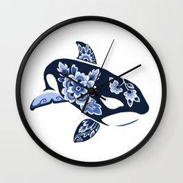 Delft Blue Orca Wall Clock