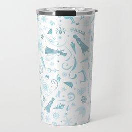 Snowy Frozen Princesses Travel Mug