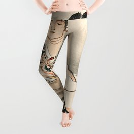 The Calligrapher Traditional Japanese Character Leggings