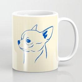 Chihuahua (Beige and Blue) Coffee Mug