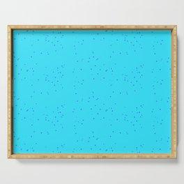 Blue Shambolic Bubbles Serving Tray