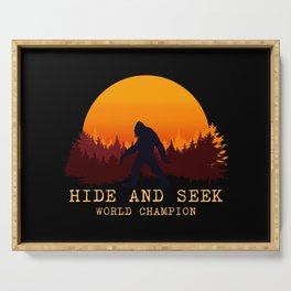 Bigfoot - Hide and Seek World Champion Serving Tray