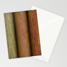 Realistic wood texture Stationery Cards