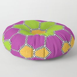 Vibrant honeycomb pattern with brilliant colours Floor Pillow