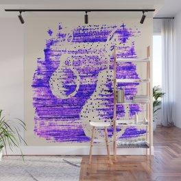 Pear. Abstract art. Brushstrokes Wall Mural