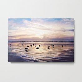 dusk on the beach Metal Print