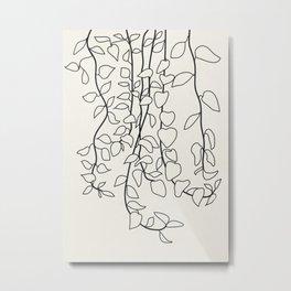 Minimalist Vines II Metal Print
