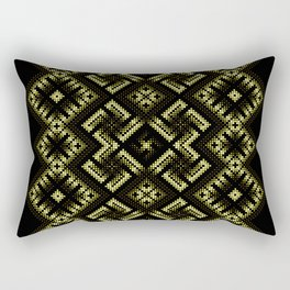 Fiery ancient ornament. Old Nordic embroidery in a psychedelic modern style Rectangular Pillow