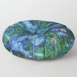 Claude Monet Water Lilies / Nymphéas Teal Floor Pillow